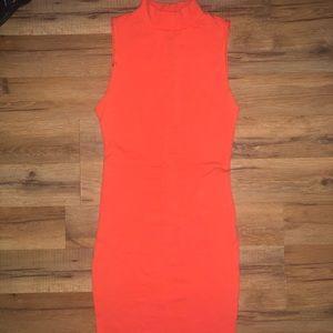 American Apparel orange mini dress